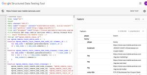 Google Data Structured Sample